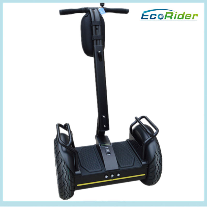 Ecorider Black Balance Electric Scooter For Security Personnel Patrol