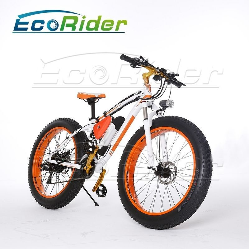 Colorful Big Two Wheel Electric Bike With A Max Range 40km LED Light