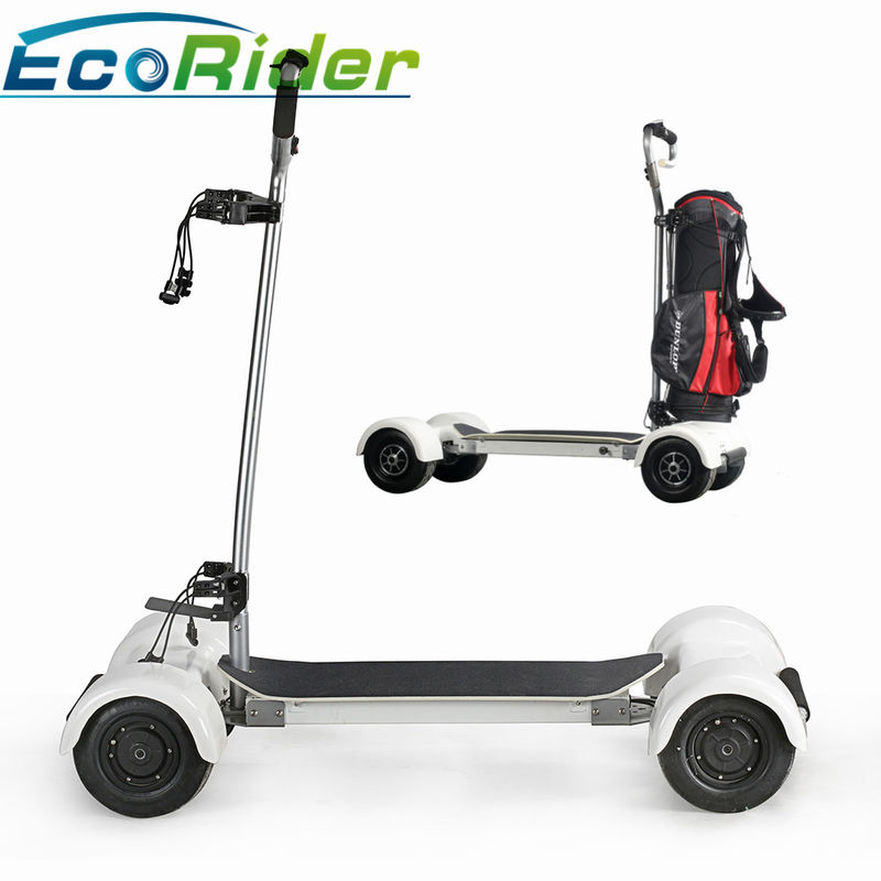 EcoRider Scooter Golf Bag Carrier 1000w Four Wheels 40-60KM Mileage Brushless DC Motor